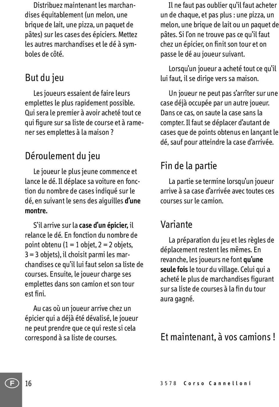 Corso Cannelloni. Un Jeu Pour Enfants À Partir De 3 Ans : L pour Jeux A Faire Dans La Voiture