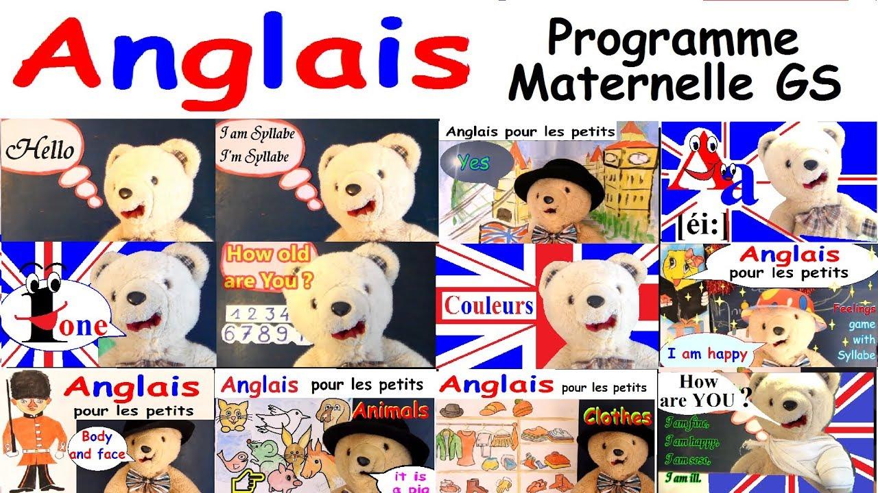 Cours D'anglais Pour Les Maternelles Gs : Programme Grande Section destiné Cours Moyenne Section Maternelle