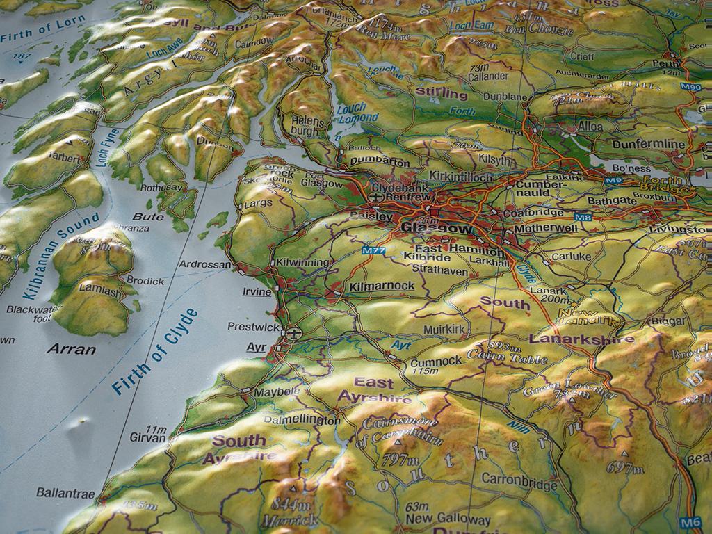 Craenen: Georelief intérieur Carte De L Europe En Relief