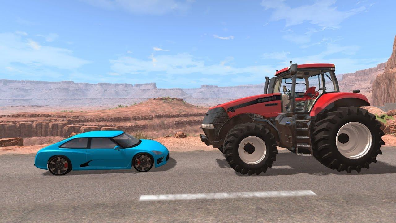 Crash Test : Voiture Vs Tracteur (Beamng.drive) encequiconcerne Jeux De Accident De Voiture