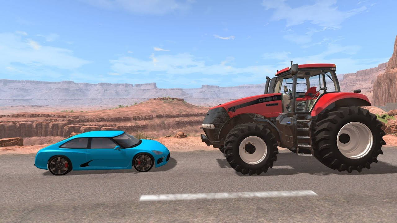 Crash Test : Voiture Vs Tracteur (Beamng.drive) serapportantà Jeux De Voiture Accident