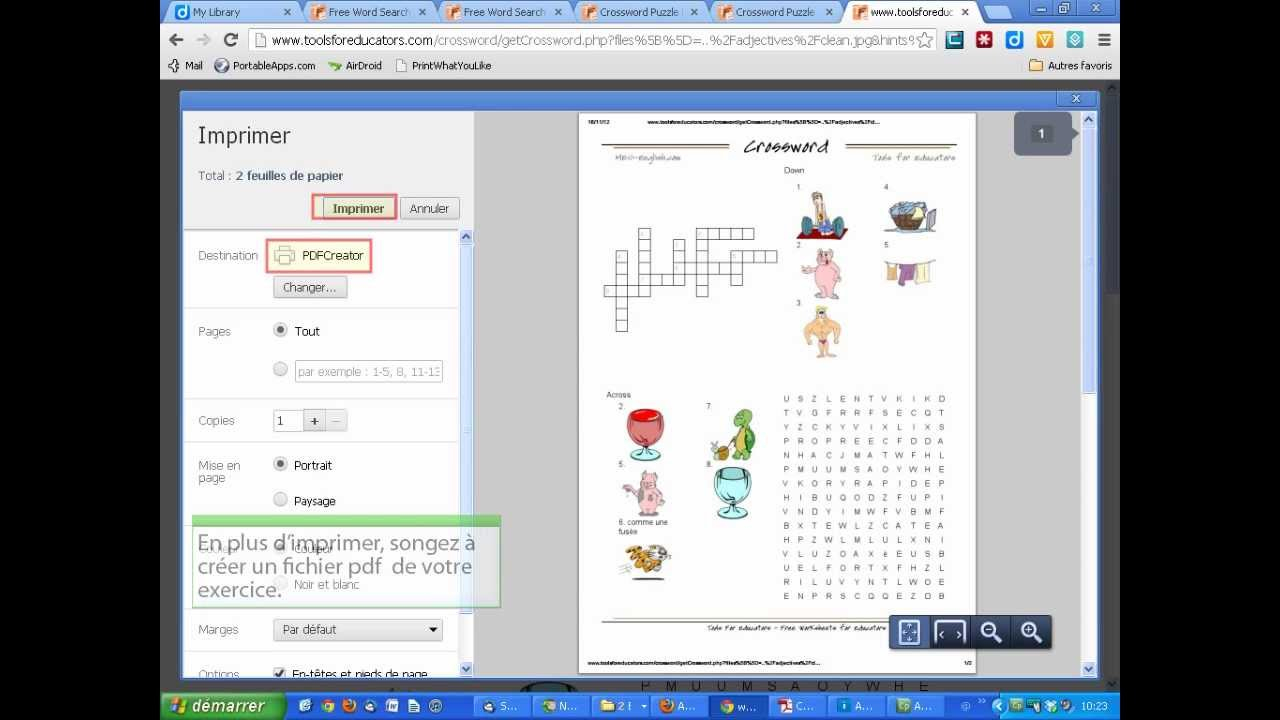 Créer Des Mots Croisés Et Mots Cachés En Image (Tools For Educators 2) encequiconcerne Faire Son Mot Croisé