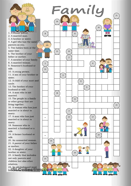 Crossword: Family | Apprendre L'anglais, Activités En serapportantà Mot Croisé En Anglais