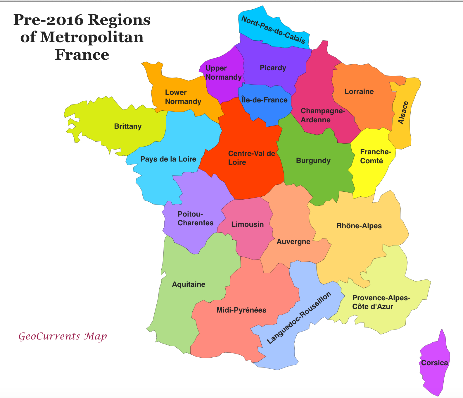 Customizable Maps Of France, And The New French Regions à Map De France Regions