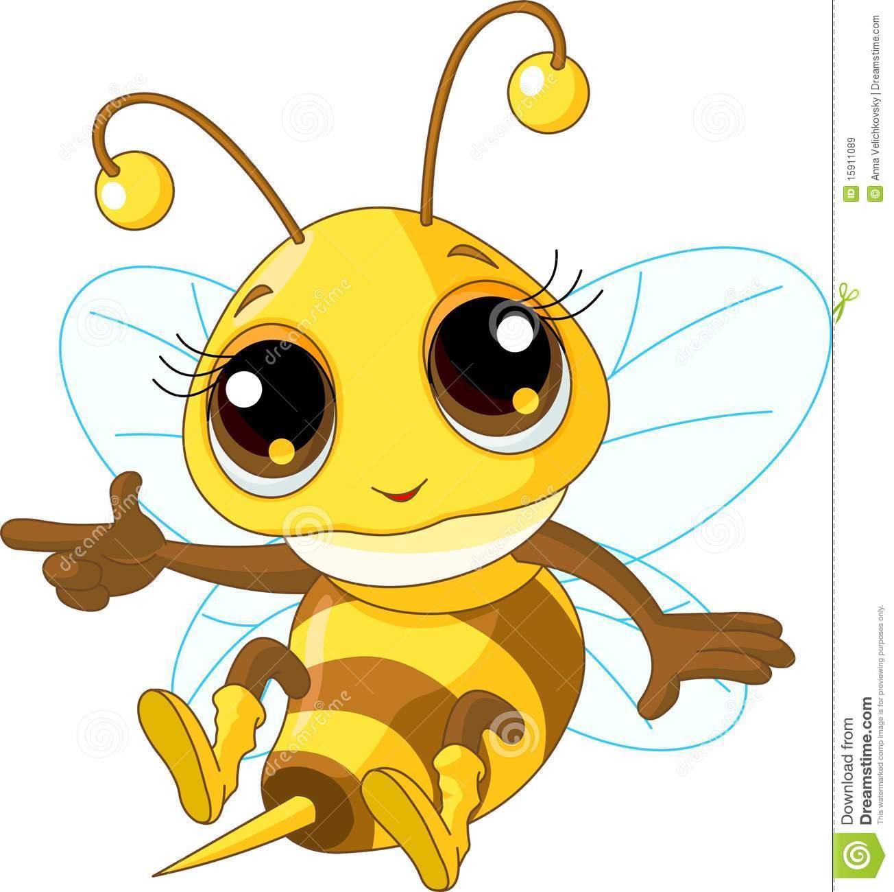 Cute Bee Showing Stock Vector. Illustration Of Bees, Design destiné Image D Animaux A Imprimer En Couleur