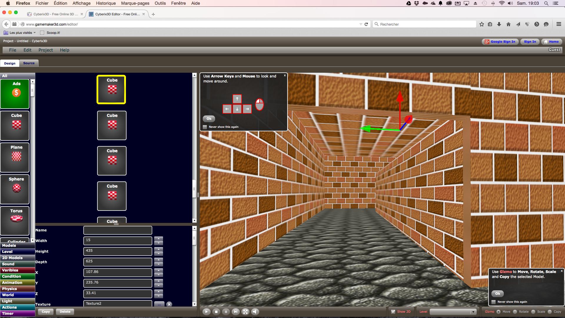 Cyberix3D Gamemaker: Créer Des Jeux Vidéos En 3D Pour Pc Et avec Logiciel Jeux Pc