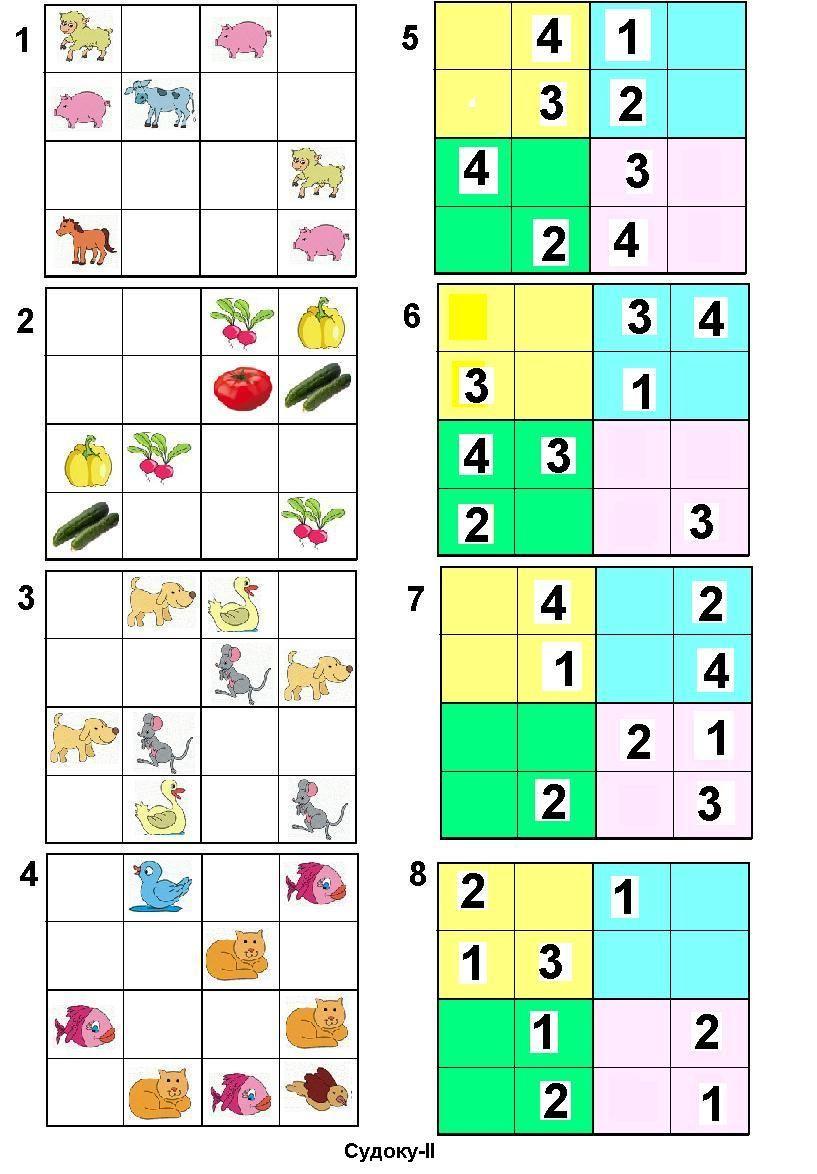 Резултат Слика За Sudoku Za Decu | Sudoku, Words, Word Search pour Sudoku Grande Section
