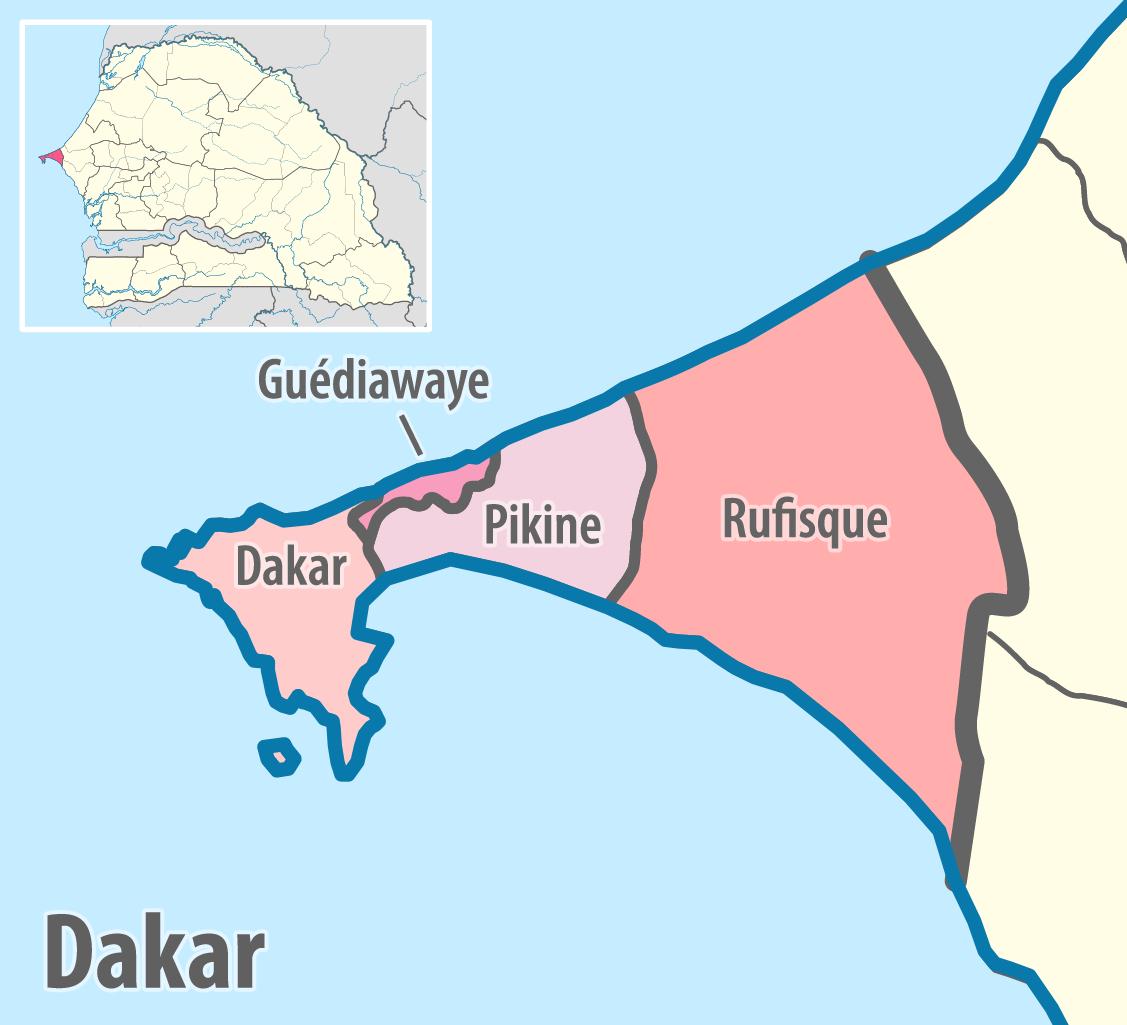 Dakar Region - Wikipedia concernant Departement 22 Region