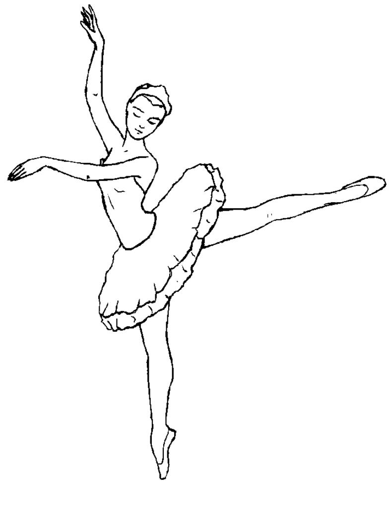 Danseur / Danseuse #149 (Métiers Et Professions tout Dessin De Danseuse A Imprimer