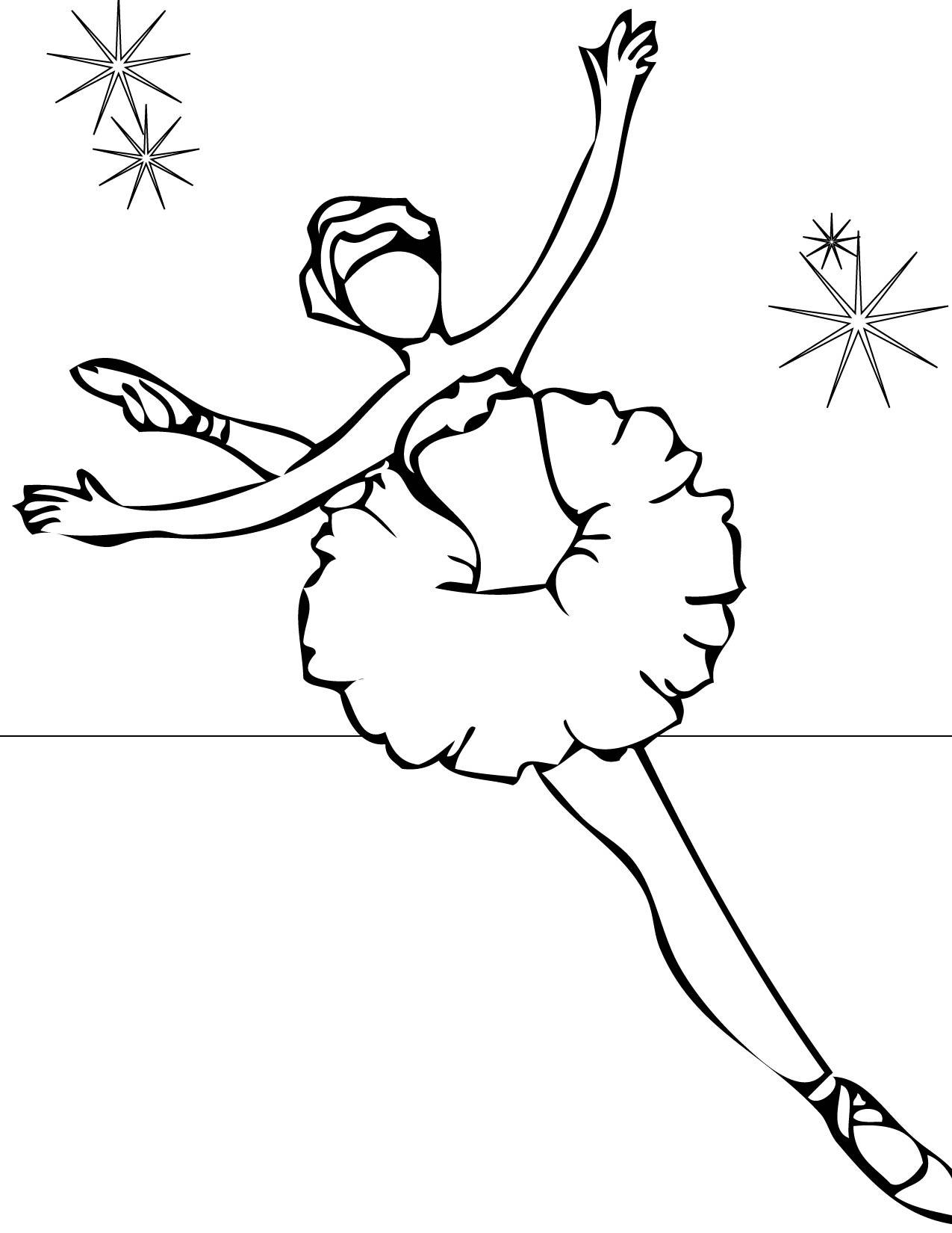 Danseur / Danseuse #7 (Métiers Et Professions) – Coloriages intérieur Dessin De Danseuse A Imprimer