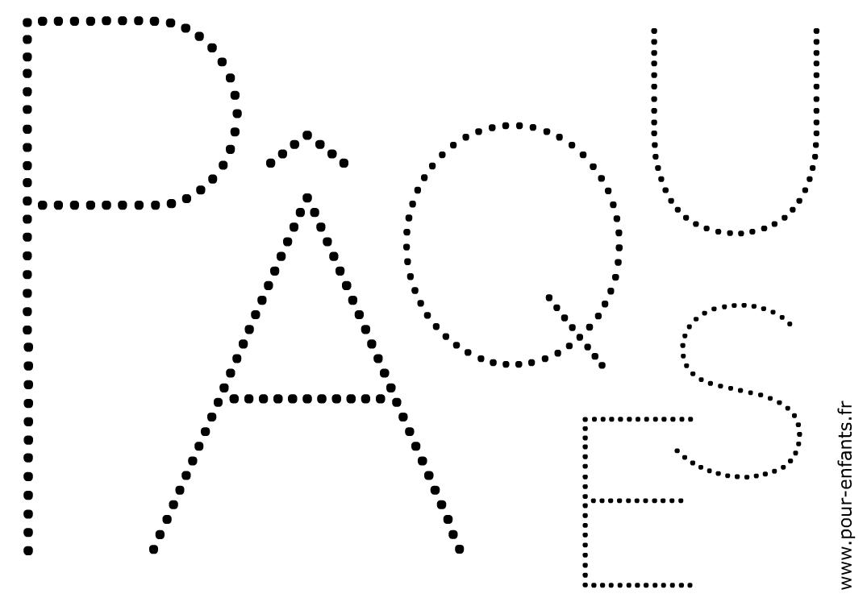 Date De Pâques 2017. Dessins À Imprimer Pour Des Activités tout Lettres En Pointillés À Imprimer