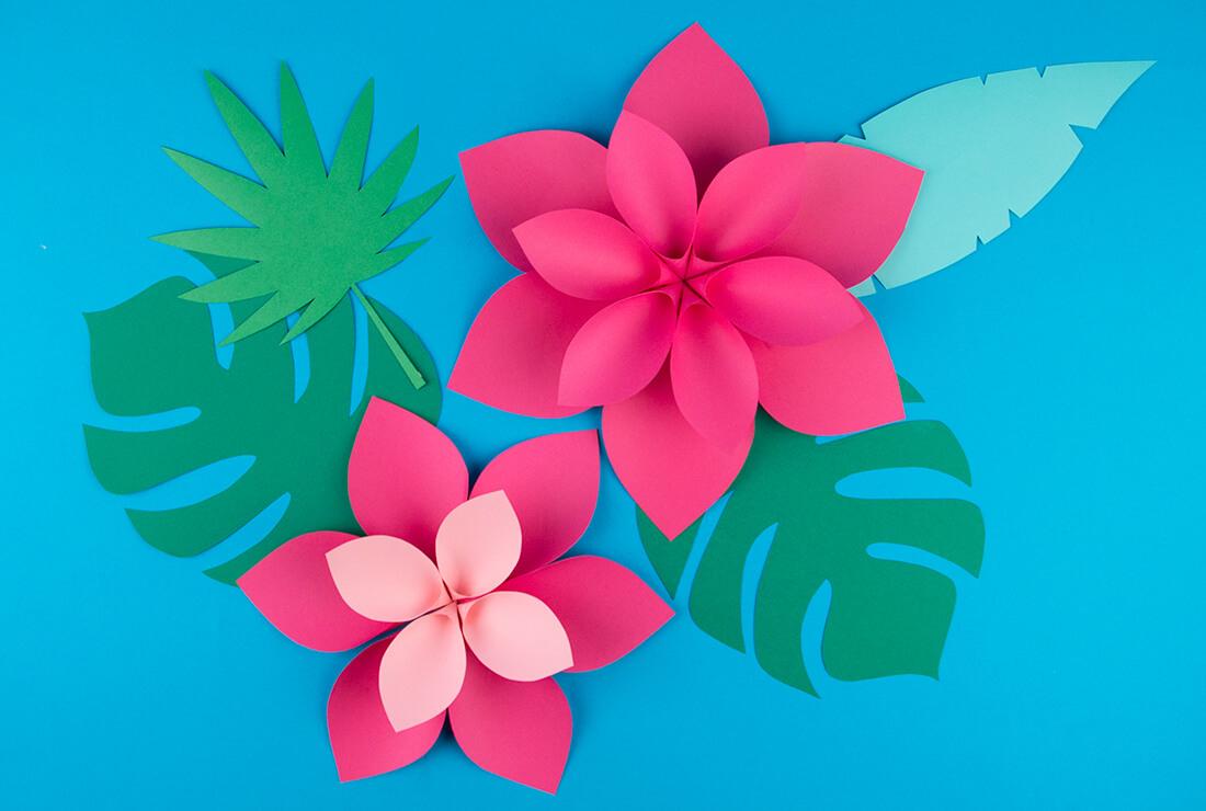 Déco De Fleurs Vaiana - Diy Gratuit - My Little Day - Le Blog intérieur Feuille De Couleur A Imprimer Gratuit