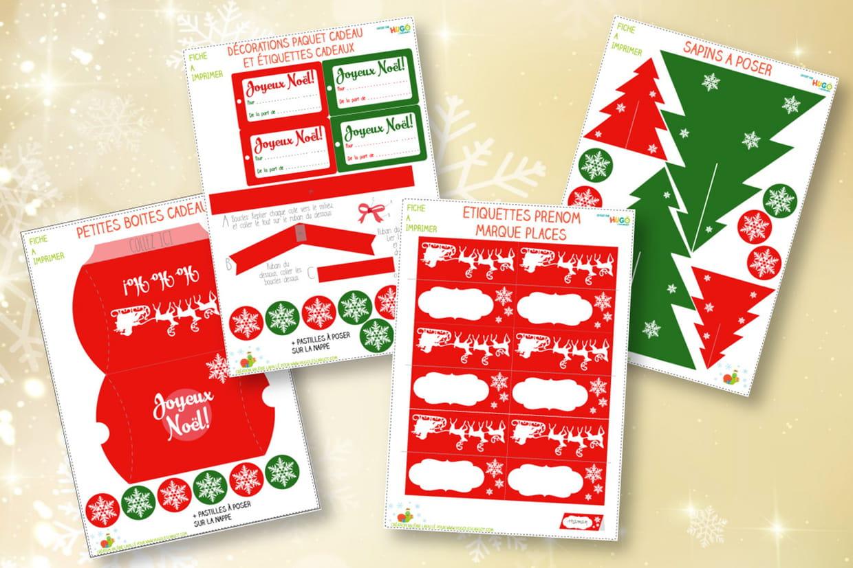 Décoration De Table De Noël À Imprimer pour Décorations De Noel À Imprimer