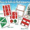 Décoration De Table Festive De Noël À Imprimer encequiconcerne Décorations De Noel À Imprimer