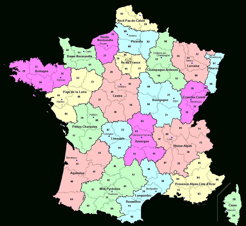 Découpage Du Territoire Métropolitain — Violoneux.fr à Le Nouveau Découpage Des Régions