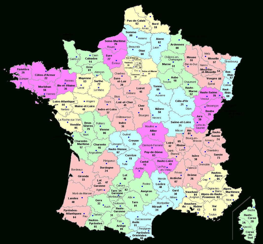 Découpage Du Territoire Métropolitain — Violoneux.fr avec Le Découpage Administratif De La France