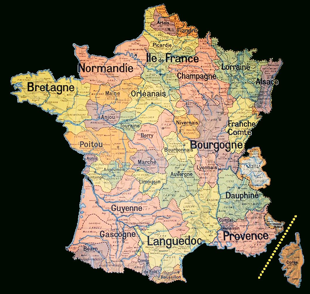 Découpage Du Territoire Métropolitain — Violoneux.fr serapportantà Carte Anciennes Provinces Françaises