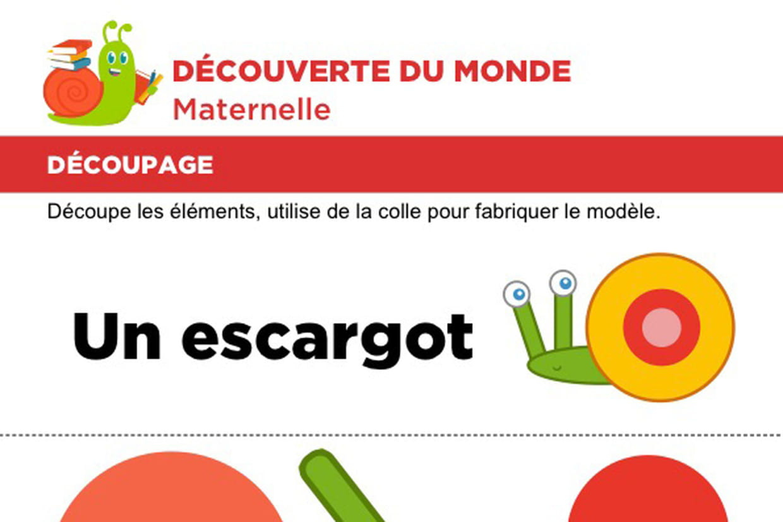 Découpage Et Collage D'un Escargot concernant Atelier Découpage Maternelle