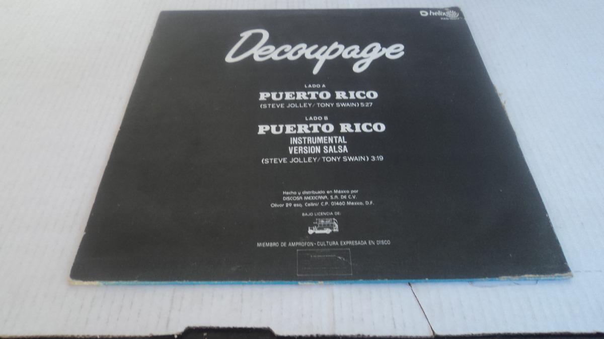 Decoupage - Puerto Rico Lp De Coleccion 1983 tout Découpage Cp