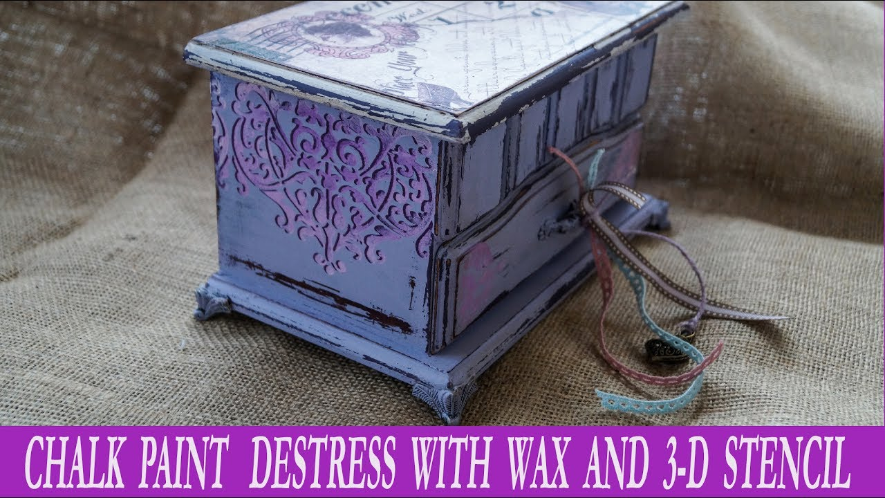Decoupage Tutorial With Chalk Paint And Destress With Wax - Diy Craft By  Debi concernant Découpage Cp