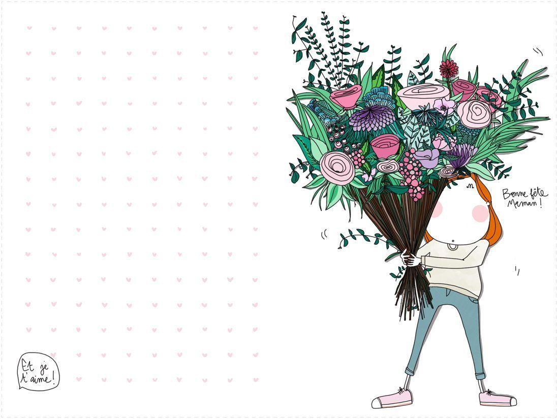 Découvrez Cette Jolie Carte Fête Des Mères À Imprimer serapportantà Carte Bonne Fete Maman A Imprimer