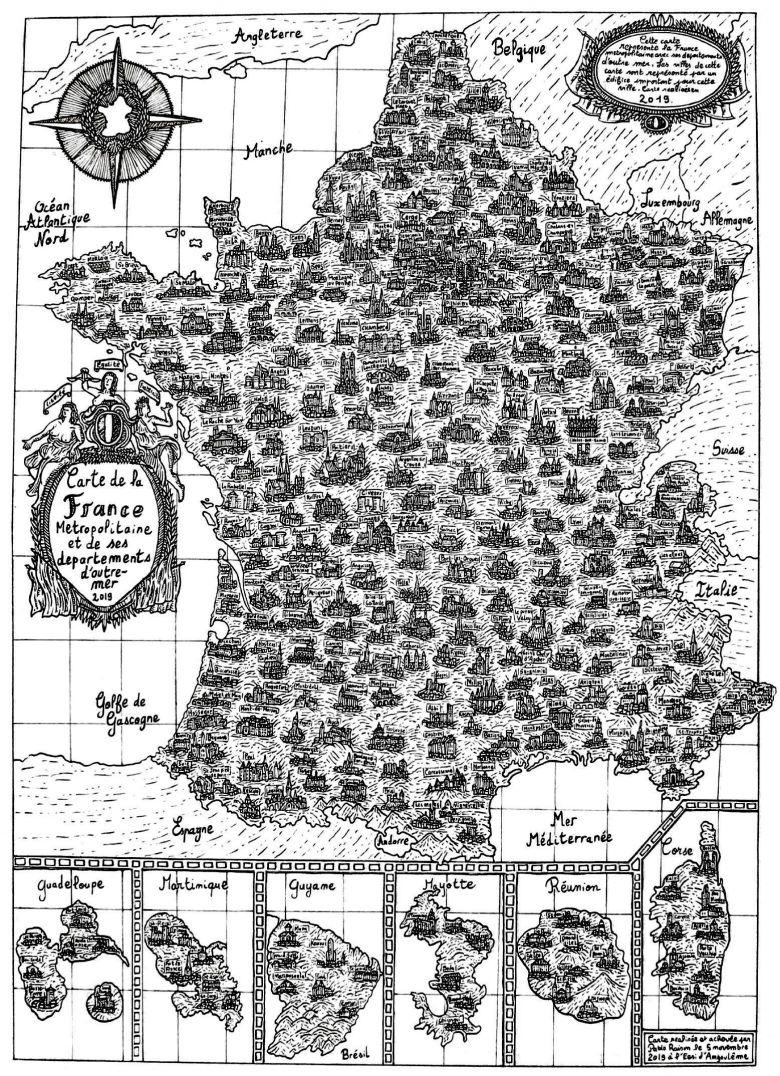 Découvrez La Carte De France La Plus Populaire De L'année dedans Dessin De Carte De France