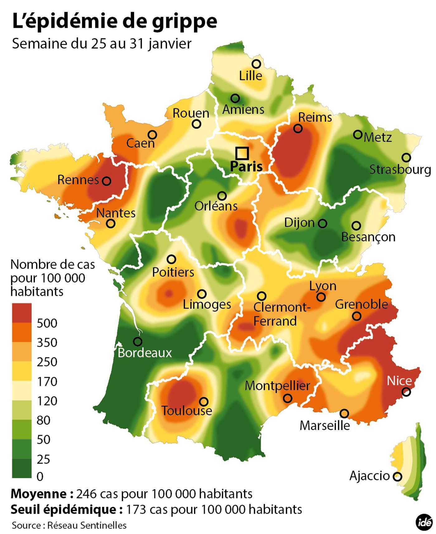 Découvrez Les Régions De France Les Plus Touchées Par La Grippe destiné France Nombre De Régions
