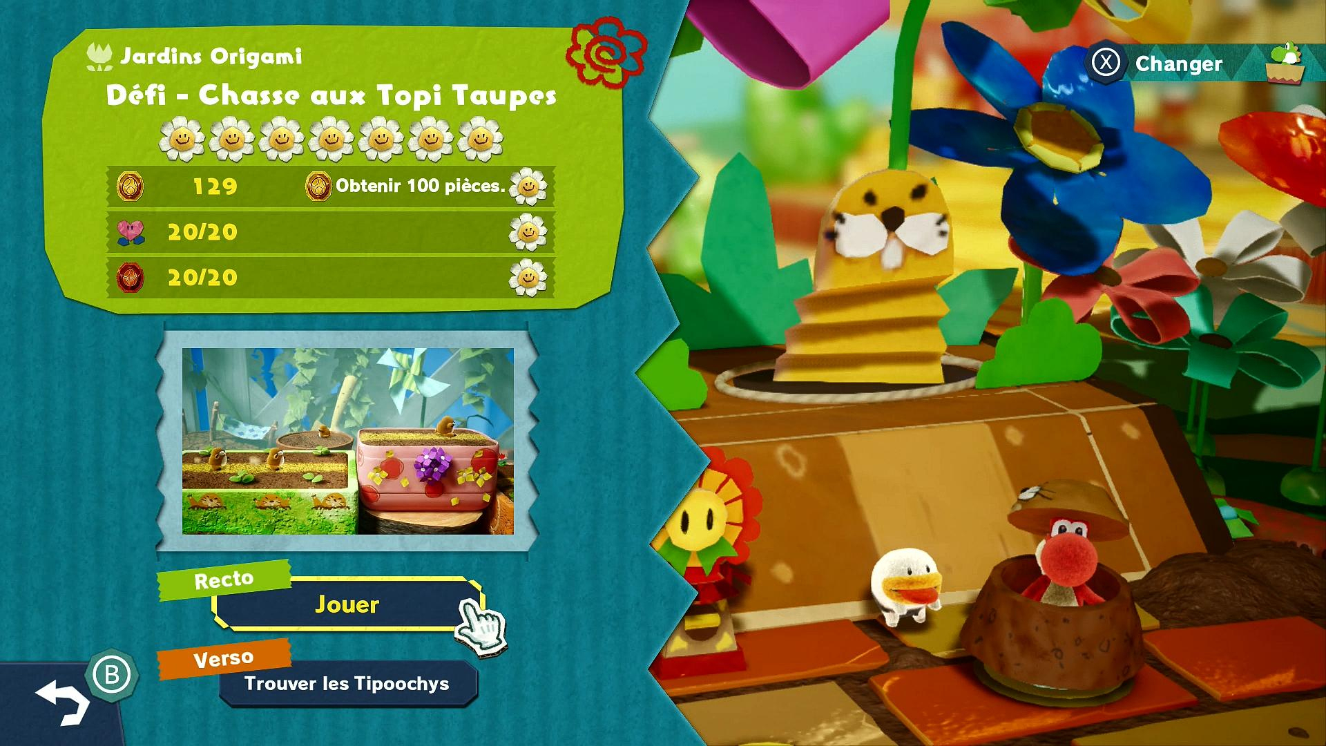 Défi - Chasse Aux Taupi-Taupes - Soluce Yoshi's Crafted pour Jeu Chasse Taupe