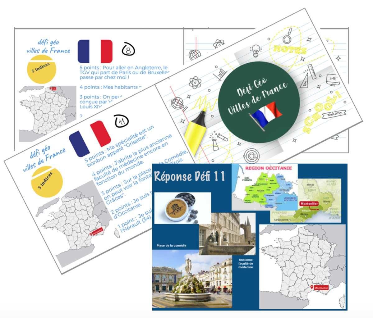 Défi Géo Villes De France - Numerikinstit pour Jeu Villes France