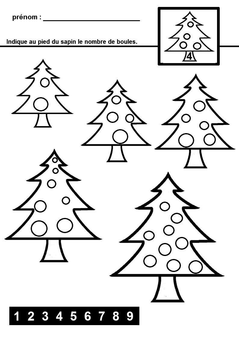 Dénombrer Sur Le Thème De Noël | Noel Maternelle, Theme Noel tout Noel Maternelle Grande Section