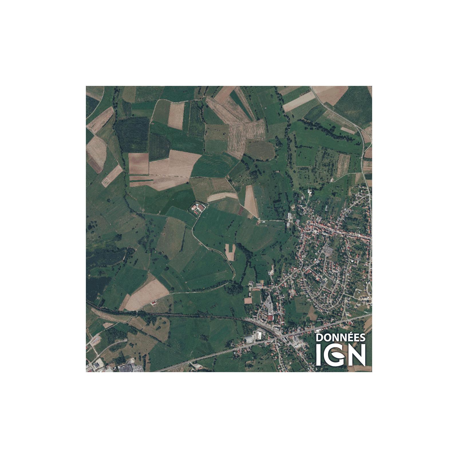 Département Moselle (57) - Satellite - 1 : 25 000 serapportantà Département 57 Carte