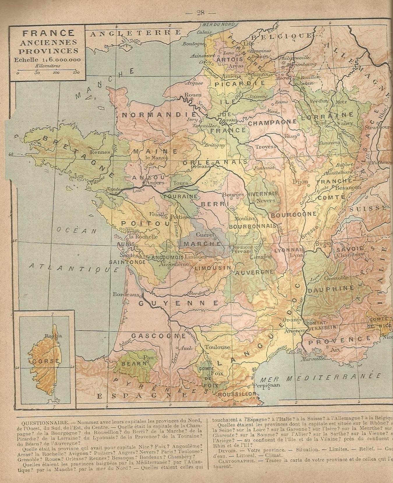 Des Anciennes Provinces Au Départements (1477-1789). - Le serapportantà Carte Anciennes Provinces Françaises