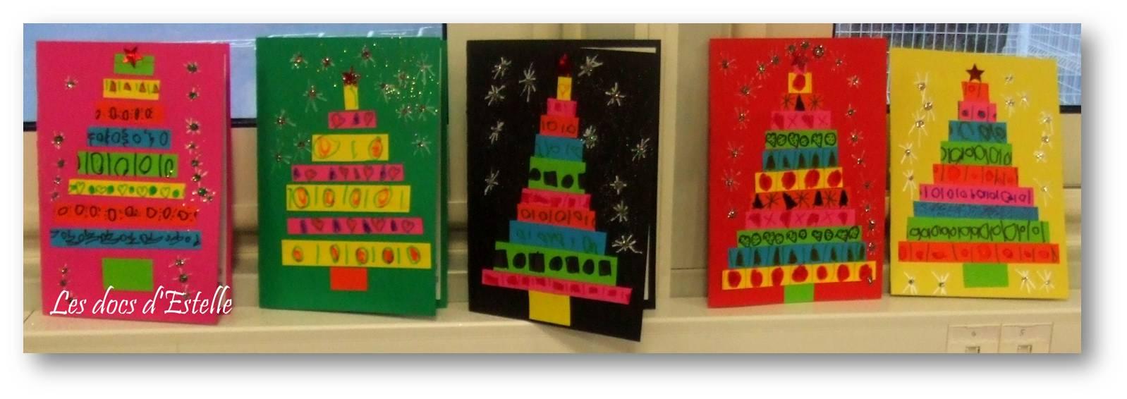 Des Cartes Pour Noël - Les Docs D'estelle destiné Cartes De Noel Maternelle
