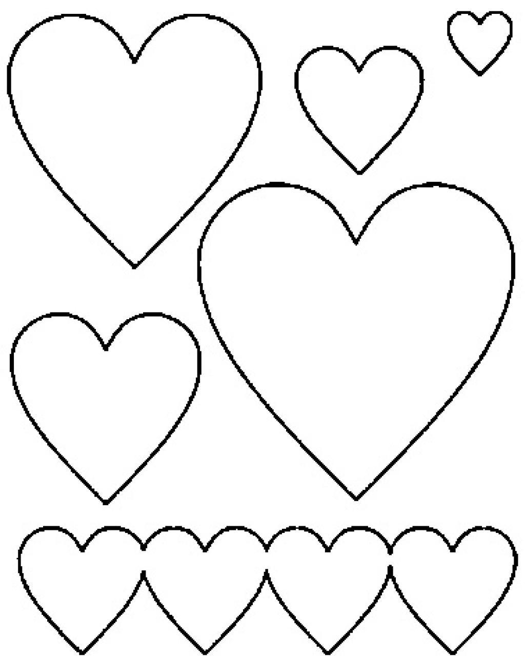 Des Cœurs Remplis De Fleurs En Forme De Coeur! 6 Modèles À concernant Coeur A Imprimer Et Decouper