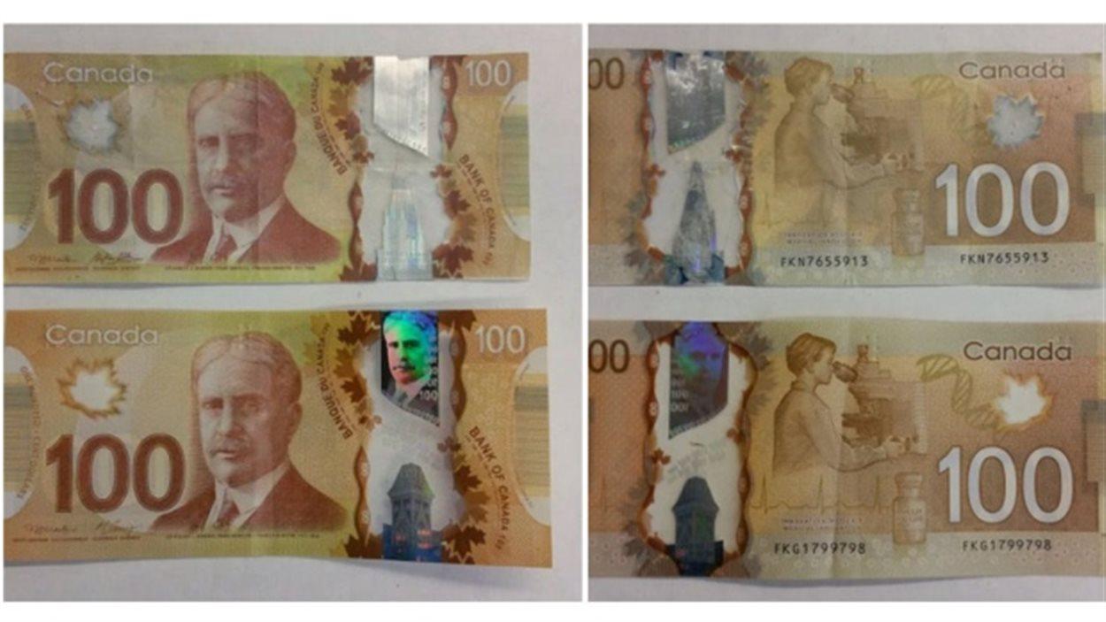 Des Faux Billets De 50 $ Et 100 $ Circulent À Regina | Radio serapportantà Imprimer Faux Billet