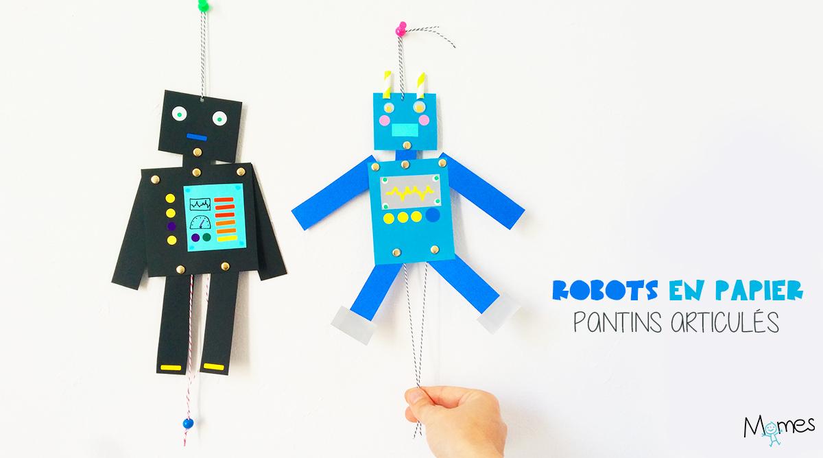 Des Pantins Robots Articulés - Momes pour Fabrication D Un Pantin Articulé