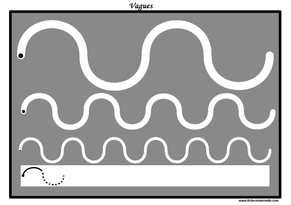Des Pistes Graphiques À Plastifier Pour Apprendre À Écrire dedans Graphisme Vagues Ms