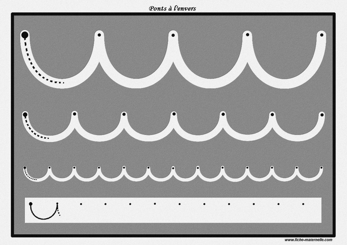 Des Pistes Graphiques À Plastifier Pour Apprendre À Écrire serapportantà Graphisme Moyenne Section Les Ponts