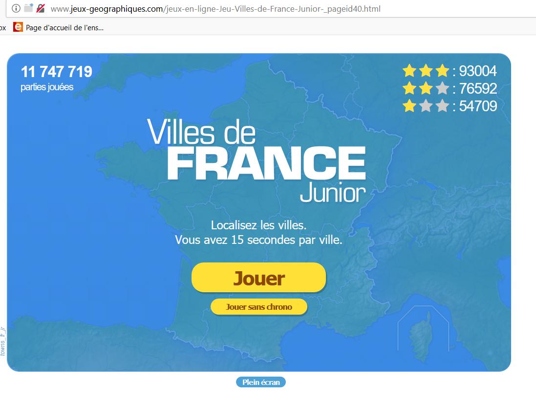 Des Sites Webs À Dévorer avec Jeu Villes France