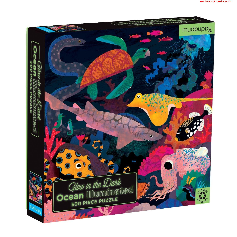 Design De Qualité Mudpuppy Enfants Puzzle Phosphorescent pour Jeux De Puzzle Enfant