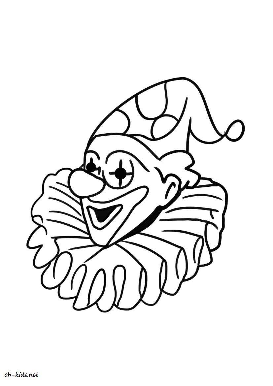 Dessin #199 - Coloriage Clown À Imprimer - Oh-Kids intérieur Coloriage Clown A Imprimer