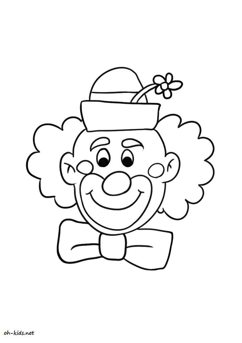 Dessin #203 - Coloriage Clown À Imprimer - Oh-Kids serapportantà Coloriage Clown A Imprimer