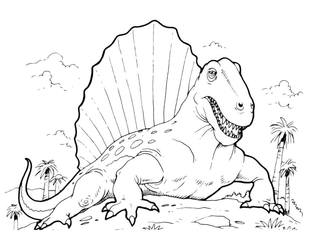 Dessin A Colorier Dinosaure Gratuit tout Dessin À Peindre À Imprimer Gratuit