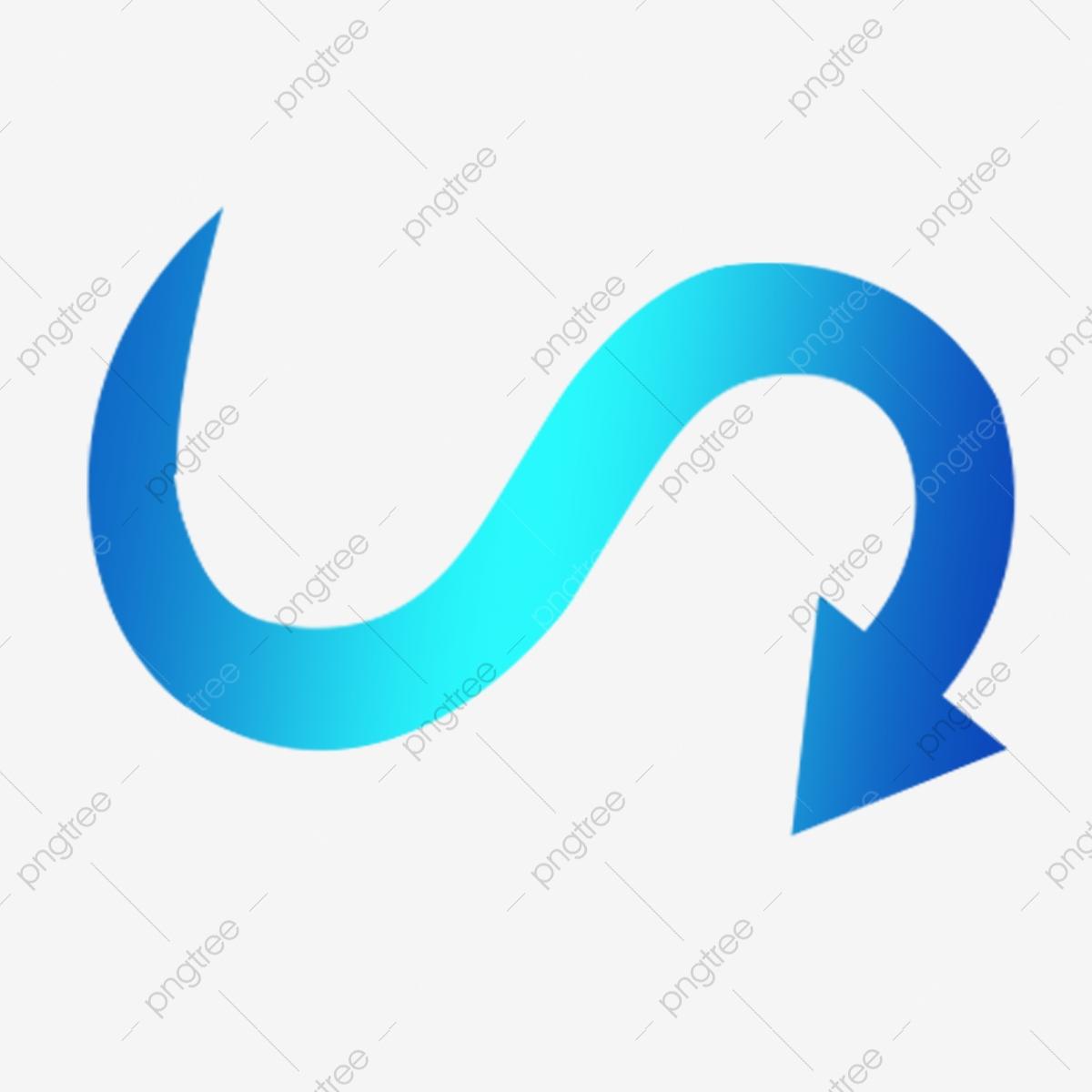 Dessin Animé Bleu Diagramme De Bouton Gratuit En Forme De destiné I Fleches Gratuit