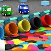 Dessin Animé Éducatif Pour Enfants De 4 Voitures - Paint-Ball intérieur Jeux De Voiture Avec Feu Rouge