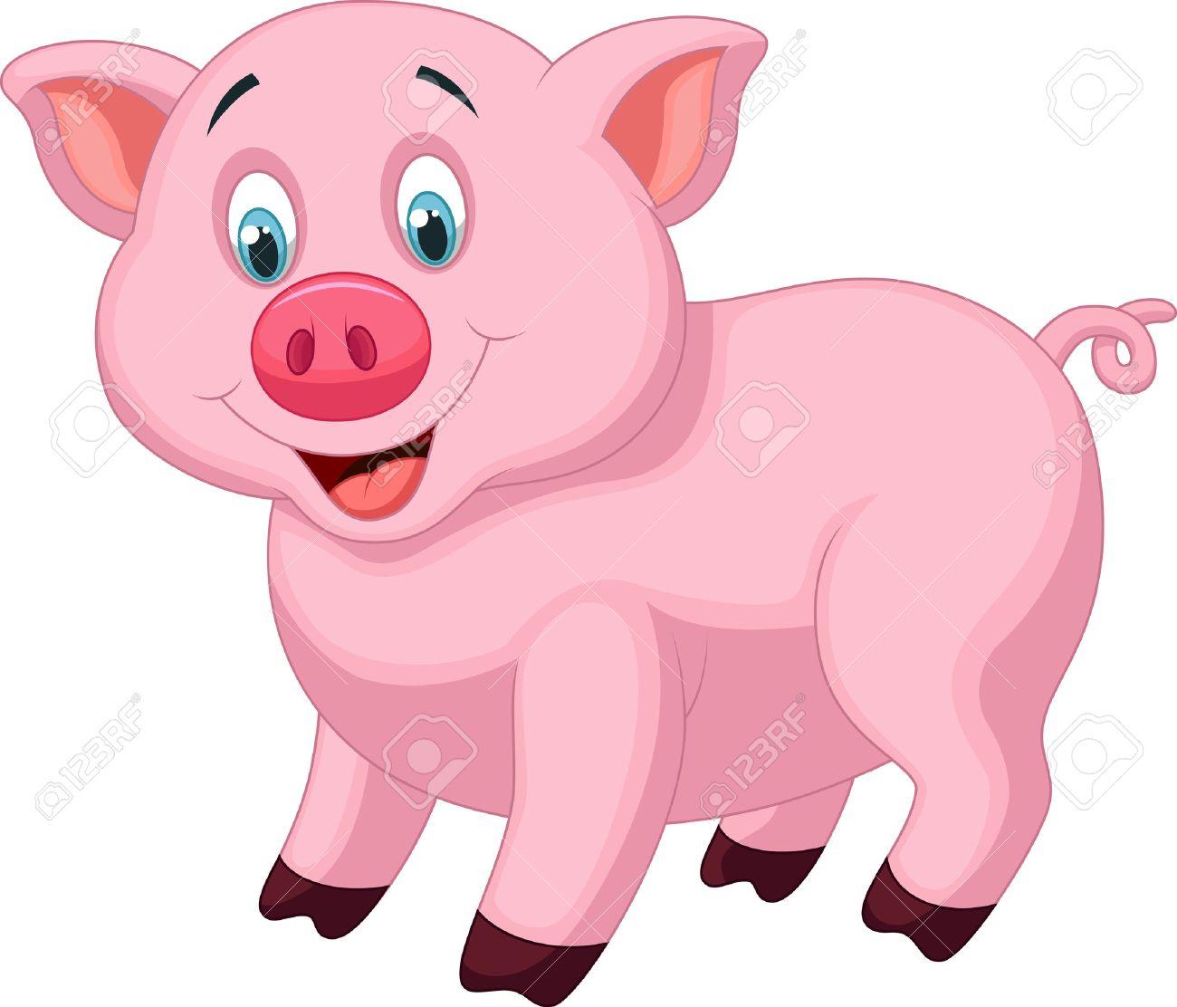 Dessin Animé Mignon De Porc pour Dessin De Cochon En Couleur