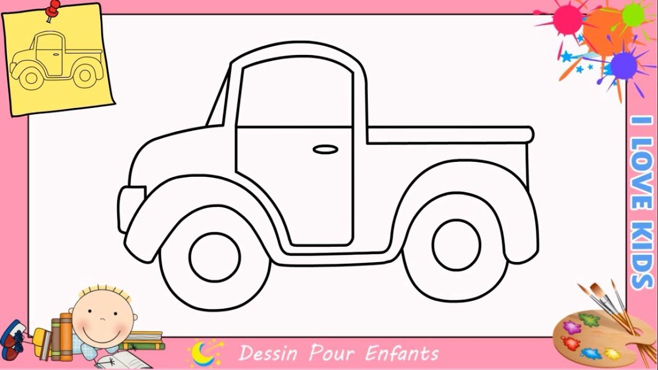 Dessin Camion Facile & Kawaii Etape Par Etape - Comment Dessiner Un Camion 4 intérieur Dessin Facile Pour Enfant