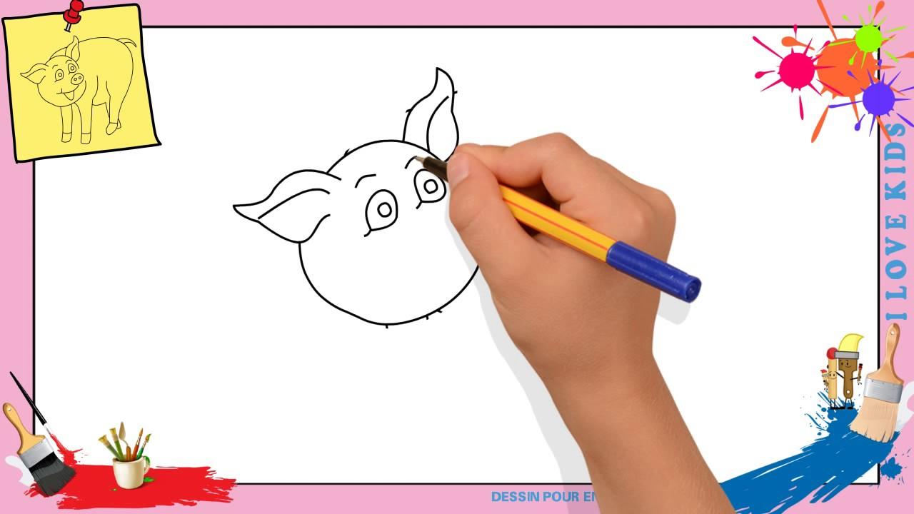 Dessin Cochon - Comment Dessiner Un Cochon Facilement Pour Enfants serapportantà Dessin De Cochon En Couleur