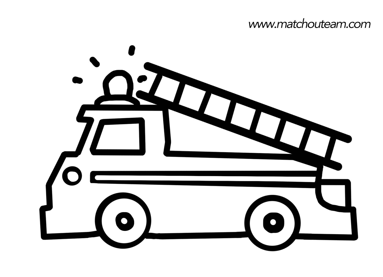 Dessin De Camion De Pompier À Colorier destiné Coloriage Camion De Pompier Gratuit À Imprimer