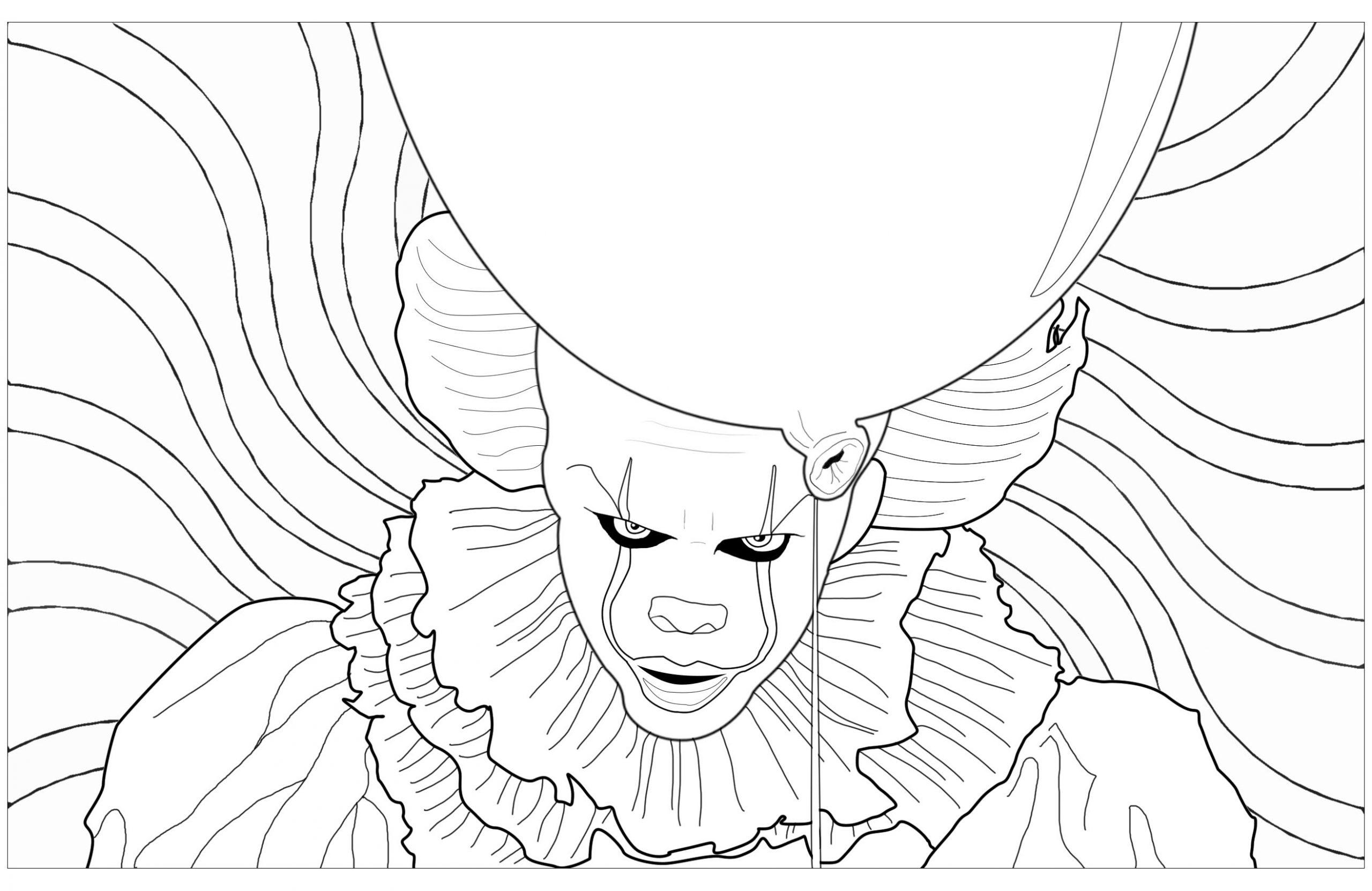 Dessin De Halloween Gratuit À Imprimer Et Colorier concernant Coloriage Clown A Imprimer